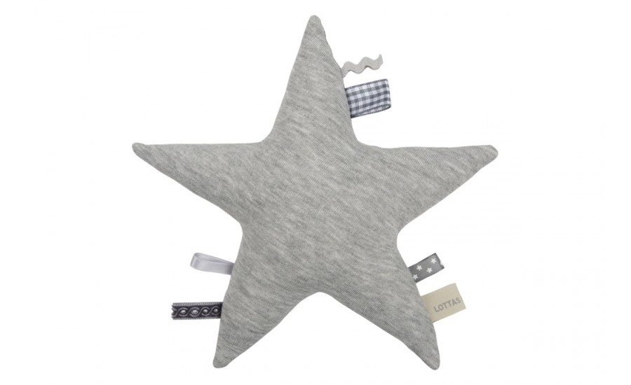 Sternen-Rassel Jersey Stern - pebble grey